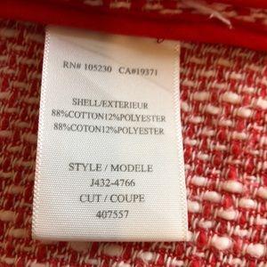 Joie Jackets & Coats - Joie Collins Lightweigh Red White Tweed Zip Jacket